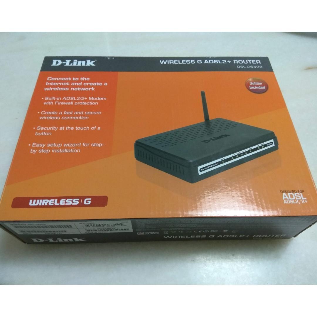 D-Link DSL-2640B Wireless G ADSL2+ Modem Router