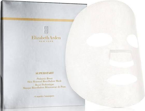 Elizabeth Arden 4-Pack Probiotic Boost Skin Renewal Biocellulose Sheet Mask