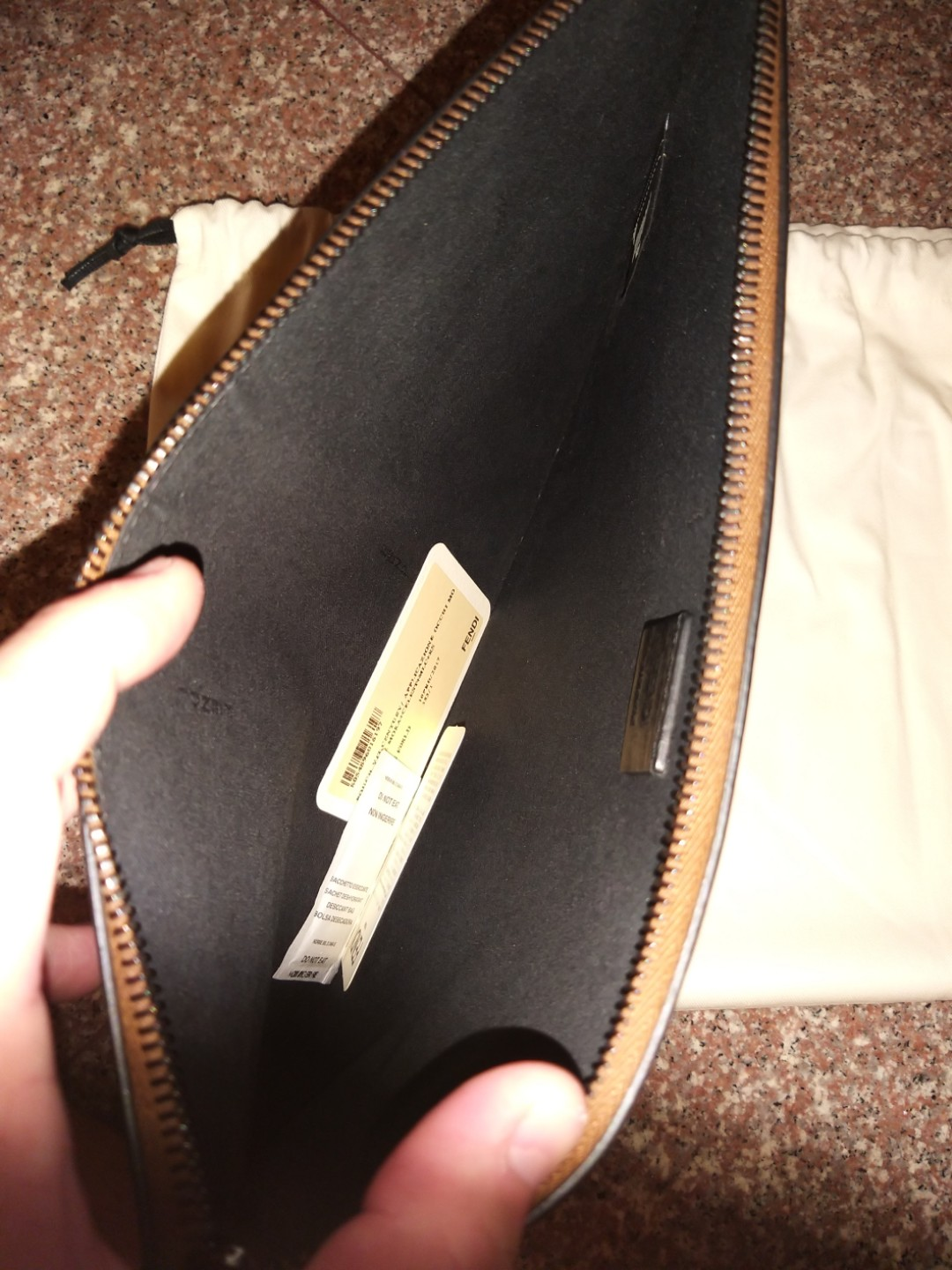 58cef16481a20e Fendi pouch, Men's Fashion, Bags & Wallets, Others on Carousell