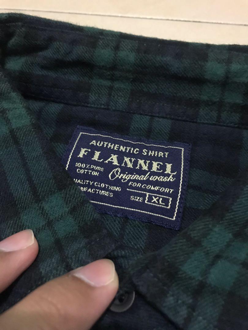 flanel uniqlo size XL
