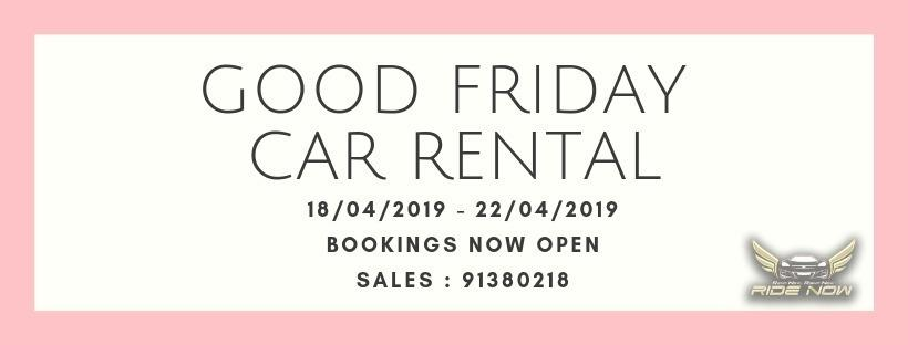 Good Friday Car Rental 18 Apr - 22 Apr Cheap and P Plate Friendly Car Rental