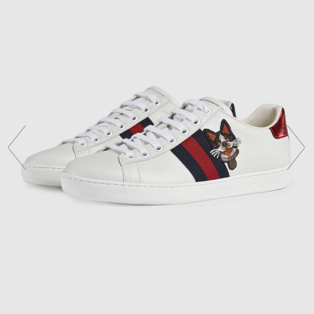 """Dog"""" Embroidered Sneaker [GUCCI 38"""