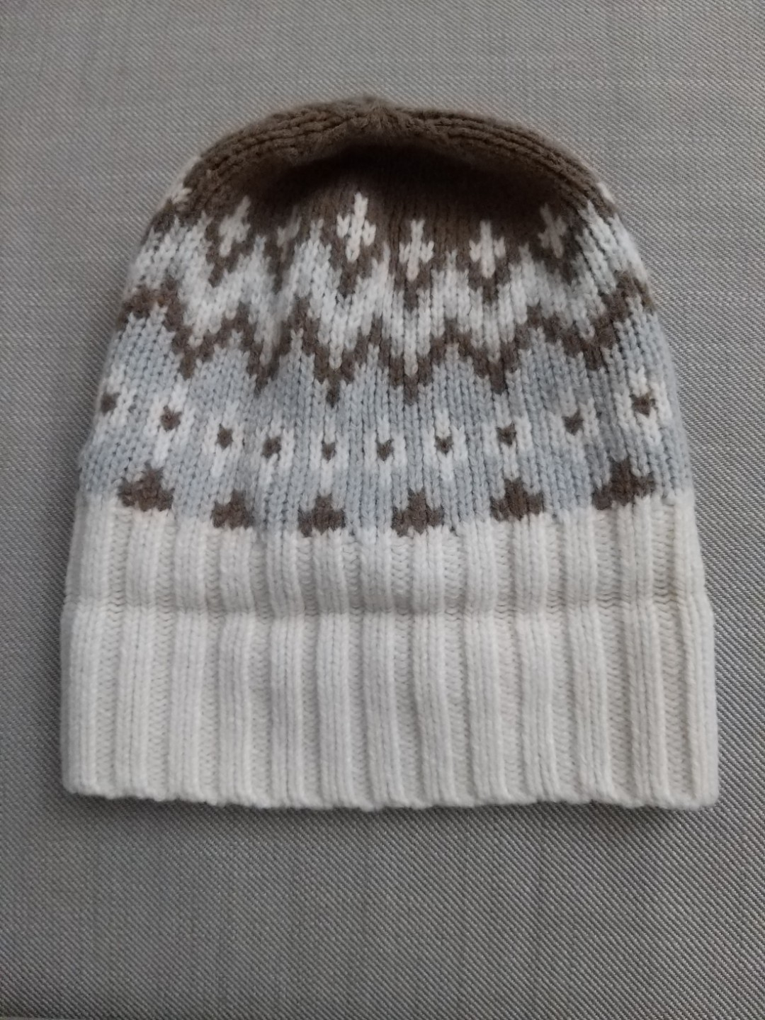 deb9f70cdb7c3 Uniqlo heattech knitted beanie in beige and brown