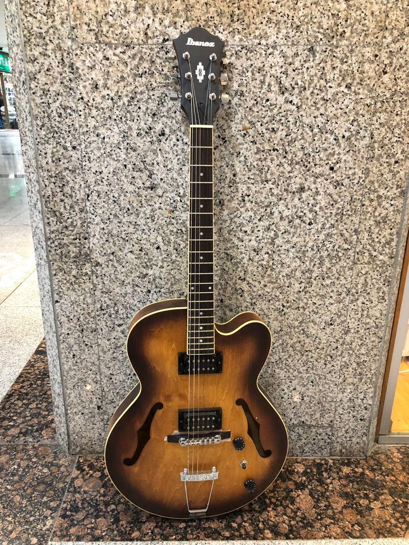 Ibanez Artcore AF55-TF Electric Guitar, Tobacco Flat, Music