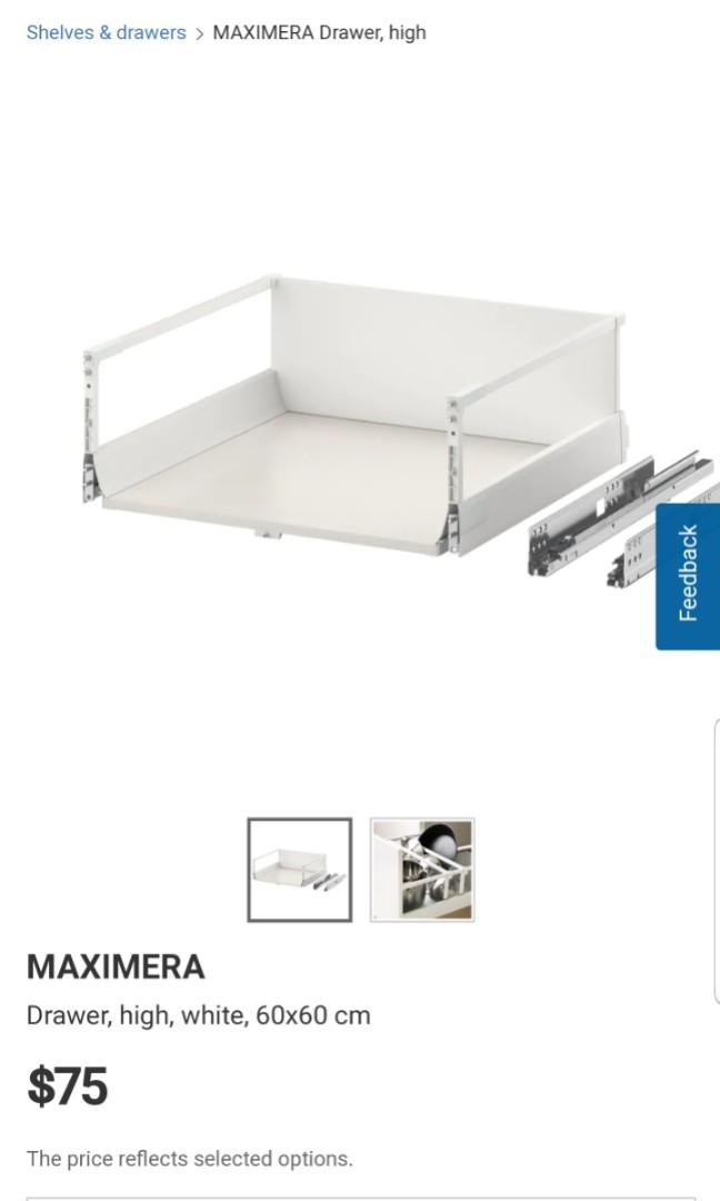 Ikea Maximera drawer high 60 x 60cm