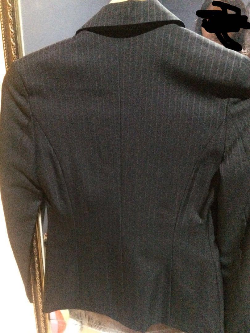 Invio black blazer stripes