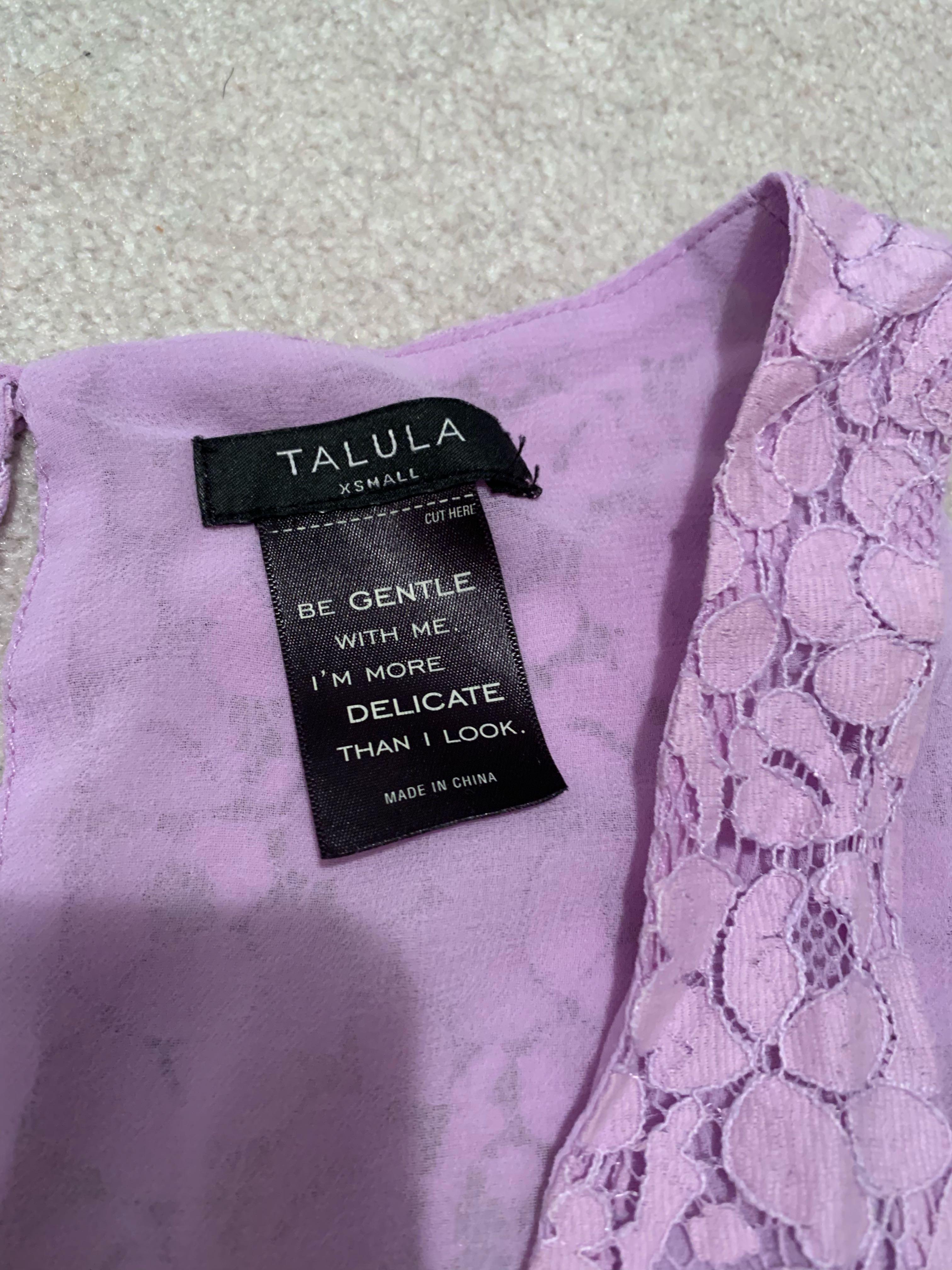 Lavender Talula Aritzia lace tank top