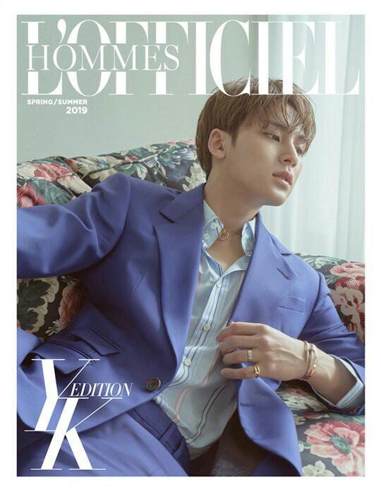 L'OFFICIEL HOMMES YK MAGAZINE (APRIL'S ISSUE) - MINGYU (SEVENTEEN)