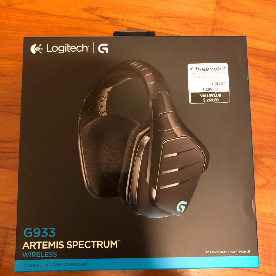 Logitech G933 Artemis Spectrum RGB Wireless 7 1 Surround Gaming Headset