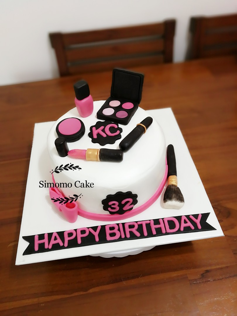 Makeup Cake Cosmetics Cakebirthday FREE DELIVERY Food