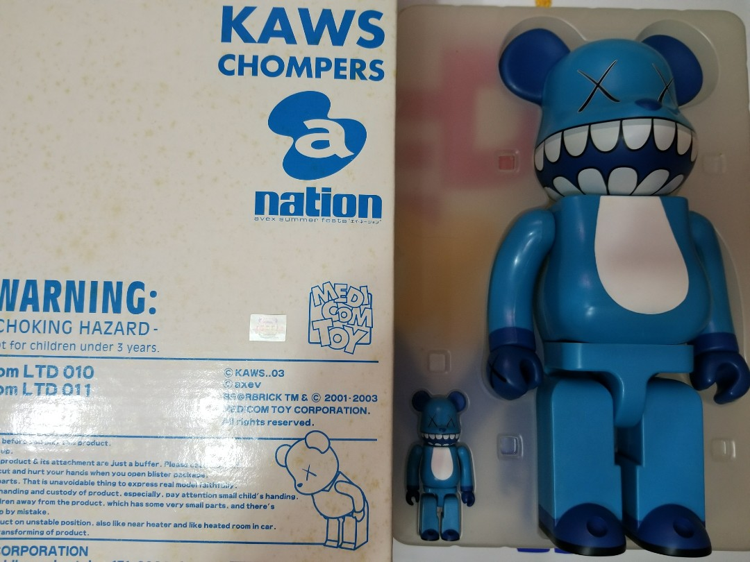 20be3783 Medicom 400% + 100% kaws chomper bearbrick set, Toys & Games, Bricks ...