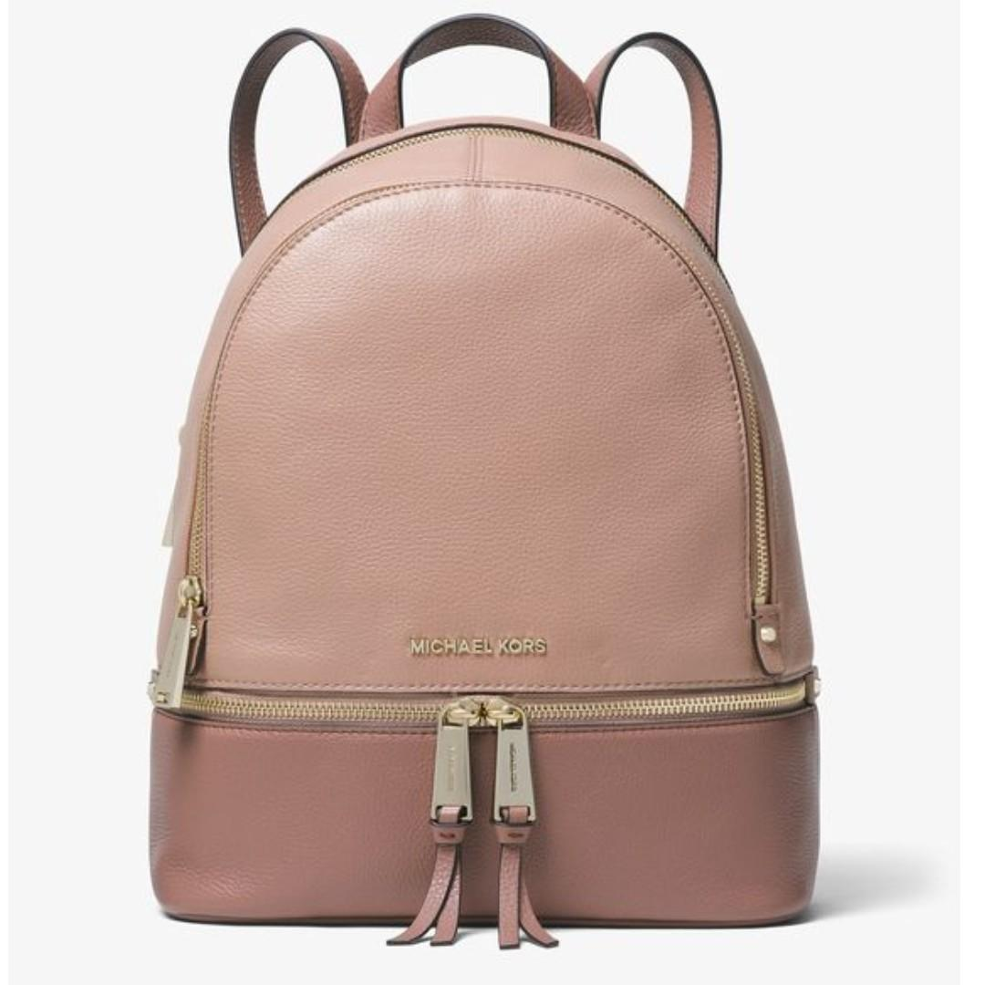 Michael Kors Rhea Backpack Pebbled Leather. 60% OFF Clearance Sales original price: MYR1216!