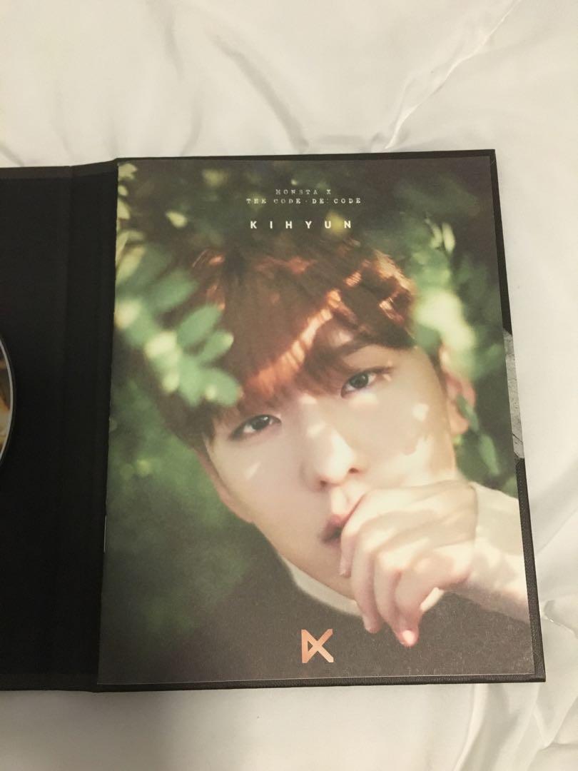 Monsta X The Code: De Code Album (Kihyun Photobook, Hyungwon CD)