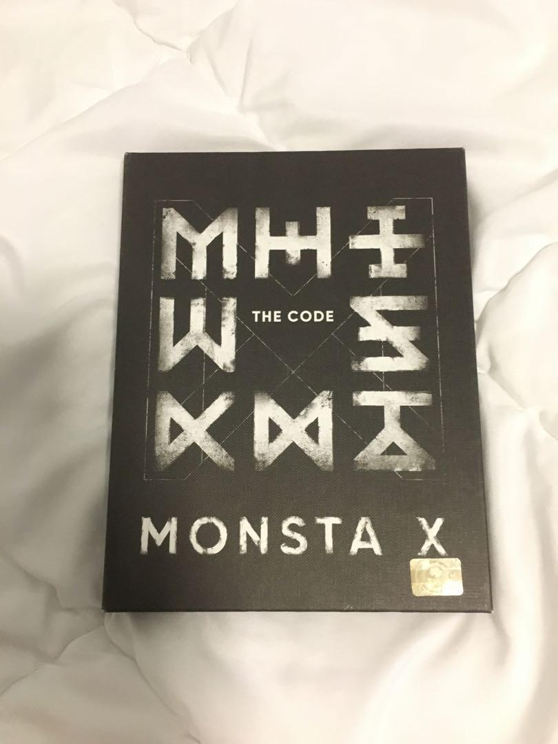 Monsta X The Code: De Code Album (Kihyun Photobook, Hyungwon CD)