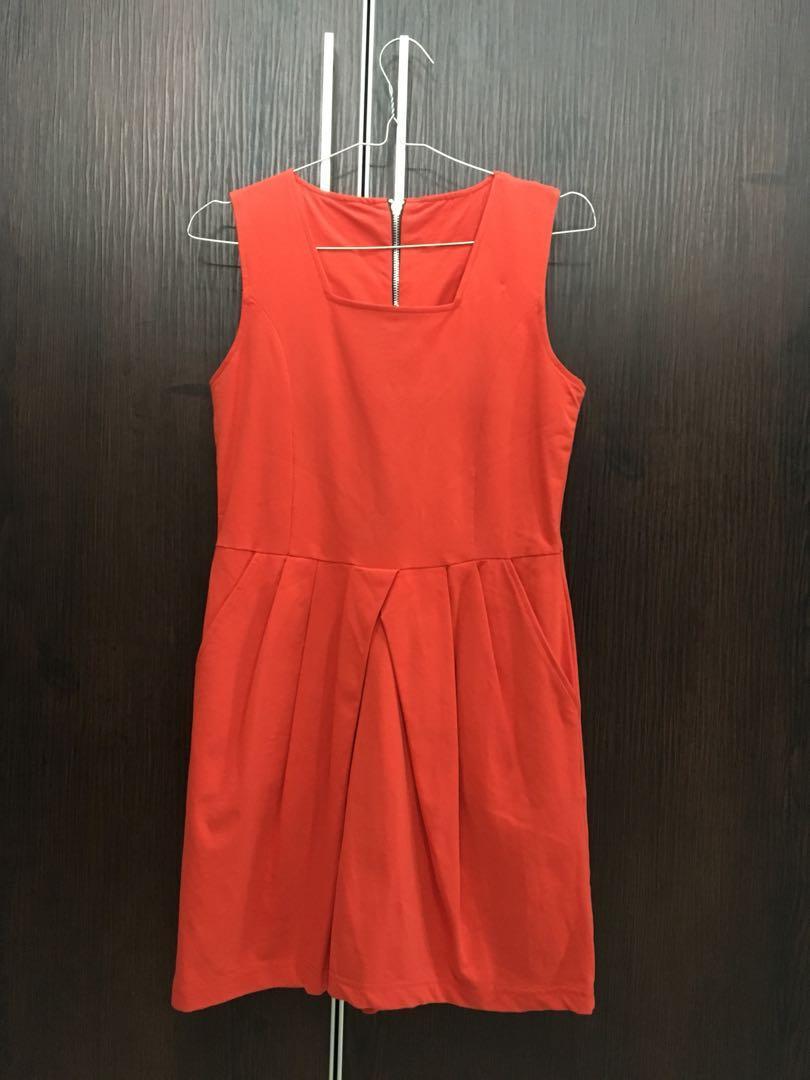 Orange Casual Dress