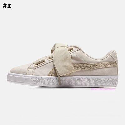 en soldes 33c96 ff4bc [PO] PUMA Basket Heart Canvas Shoe