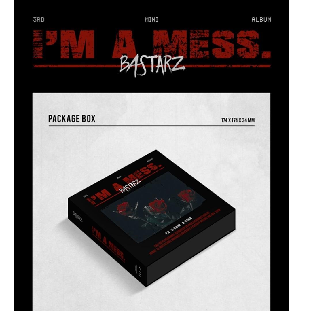 [PREORDER] BASTARZ 블락비 바스타즈 - I'M A MESS. (3RD 미니앨범)