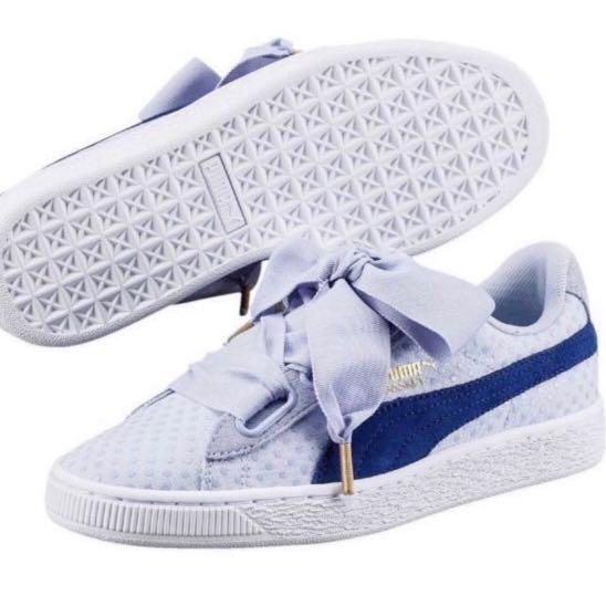 finest selection 1d516 bebc0 Puma Basket Hearts Denim Woman, Women's Fashion, Shoes ...