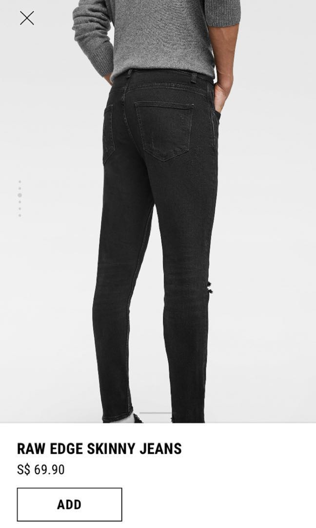 996337a81d3 Raw Edge Skinny Jeans (mens), Men's Fashion, Clothes, Bottoms on ...