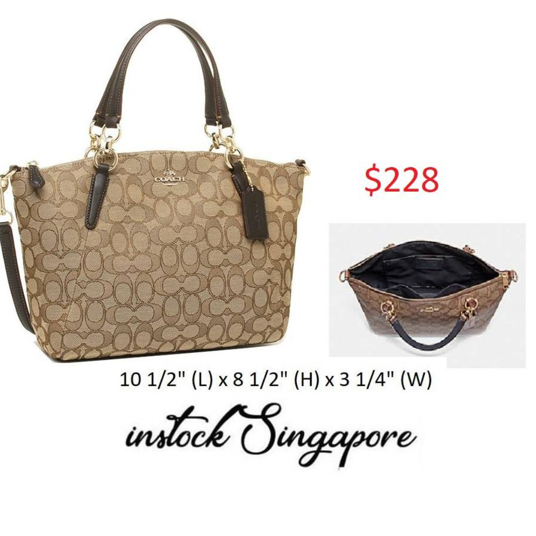 91d1e90759e6 READY STOCK authentic new Coach Small Kelsey Satchel In Signature ...
