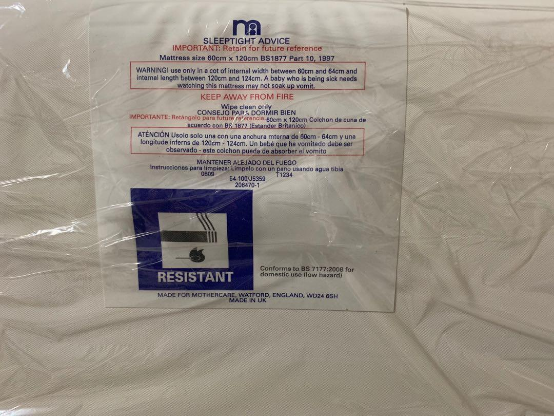 **Reduced Mothercare Cot with Mattress*
