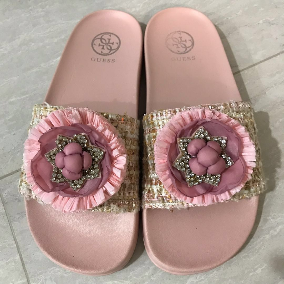 Reserved Guess Floral Rcdsqtxbh Fashionshoes Pink Sandalswomen's Tweed dCoexB