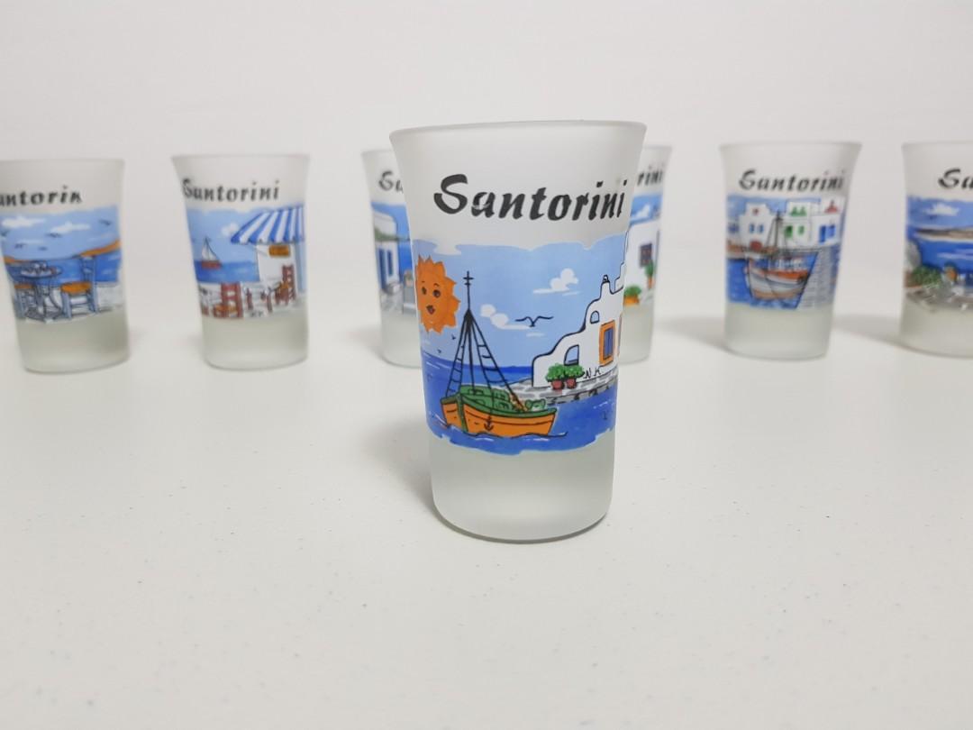 Santorini shot glasses