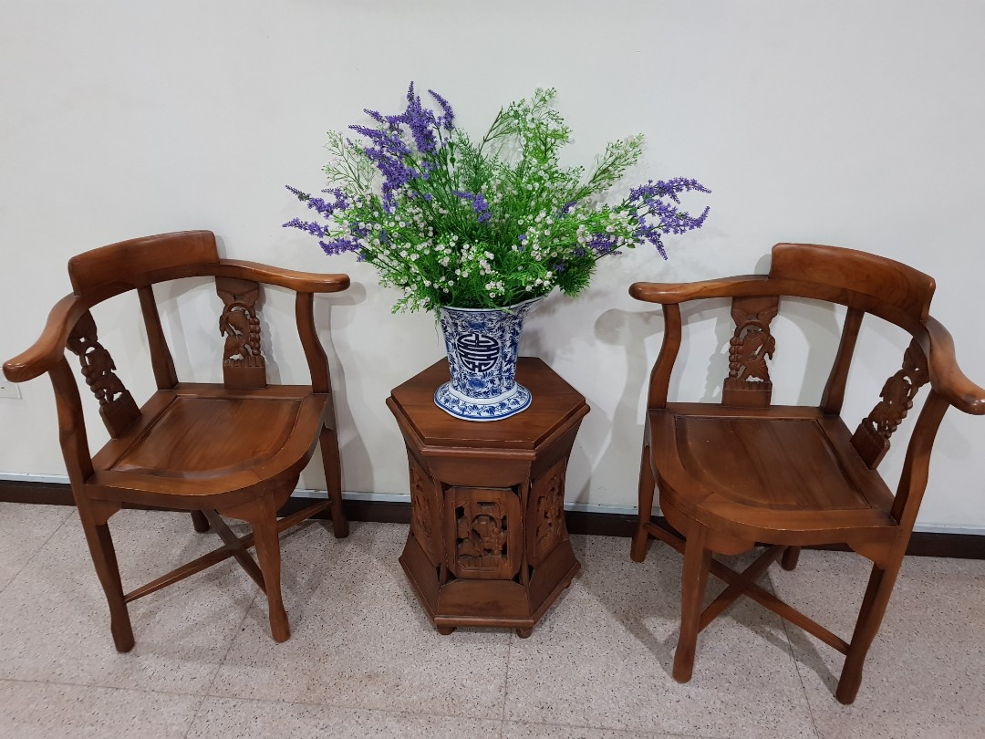 Teak Wood Table N Chairs Furniture Tables Chairs On Carousell