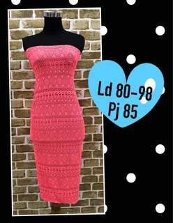 Tube dress pinky