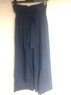 Initial 藍色暗紋褲