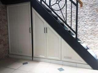 Kabinet bawah tangga aluminium