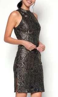 Zalora Festival (Brand New) - Black / Gold Lace Dress - Size S - Perfect Dress for All Occasions