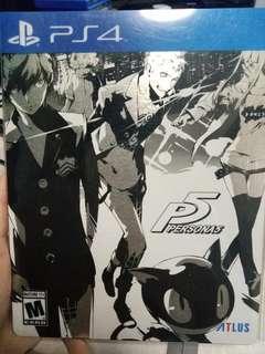 WTS PS4 Persona 5 Steelbook
