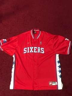 Sixers Authentic Warm Up Jersey