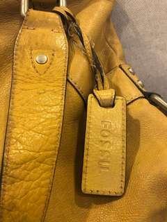Fossil handbag leather