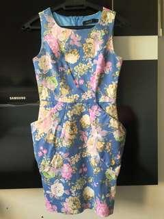 Women Fashion - Sweet Floral Jeans stretchable Dress
