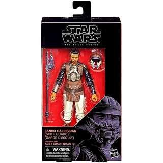 MISB Star Wars Black Series Lando Calrissian ( Skiff Guard) #76 Action Figure