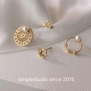 🚚 6 in 1 Multi-way Magic Wheel Mix Match Earrings Set <PO Apr 2019 Collection>