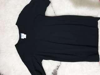 Champion plain black tee