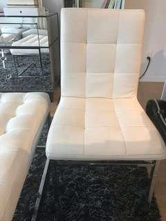 White chairs x 2