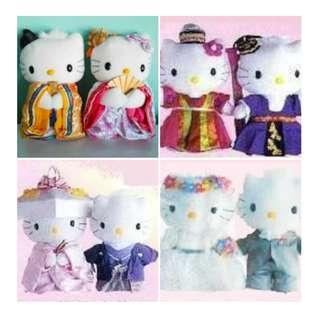 Hello Kitty & Dear Daniel Plushies