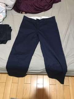 Dickies海軍藍直通褲