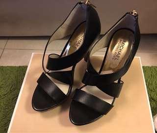 Michael Kors 4折 平過半價 黑色 高貴 高跟鞋 black sandals elegant 6 37號 有單