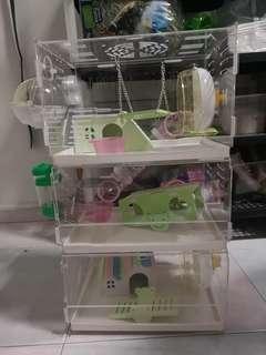3 Tier Acrylic Hamster Cage