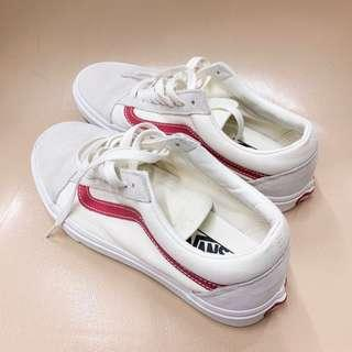 Vans Old Skool Red White Shoes Size 39