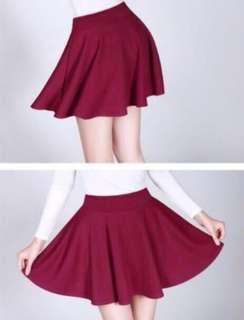 SALE Maroon Skater Skirt