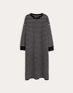 🚚 條紋 厚針織 連身裙