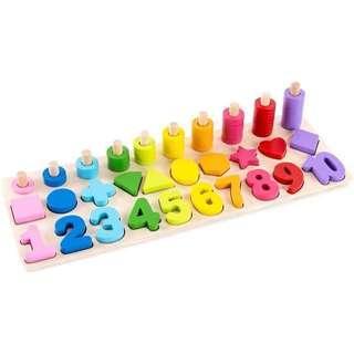 嬰兒木製玩具 學習板