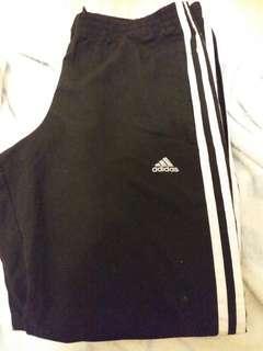 Adidas 黑白條運動褲
