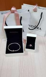 Brand New Pandora Bracelet & Present Charm